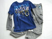 "Gymboree Boy Into the Wild ""Camp King"" top 7 8 365 Kids gray pants 8 Mountains"