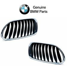 NEW BMW E85 E86 Z4 2003-2008 Pair Set of Left and Right Kidney Grill Genuine