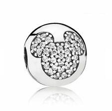 Original Pandora Clip Stopper Mickey Mouse Charm 791449CZ Silber Neu in OVP