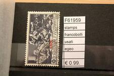 FRANCOBOLLI STAMPS EGEO USATI (F61959)