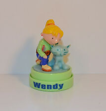 "2001 Wendy & Pilchard the Cat 2.5"" Ink Stamp Stamper Figure Bob The Builder"