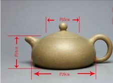 Chinese Yixing Green Mud Purple Clay Handmade Tea Pot Zisha,Lv Ni Teapot,170cc