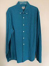 J. Crew Men's Shirt Blue Green Check Size Small Long Sleeve