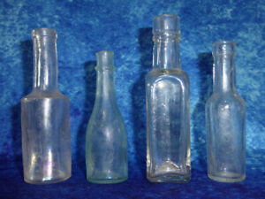 Vintage Glass Bottles x 4 - Daddie's Sauce, Goodall Backhouse + 2 more - Small