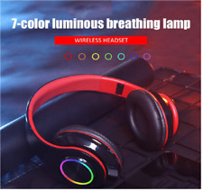 LED Bluetooth Gaming Headset Wireless Earphone Over Ear Game Headphones With Mic