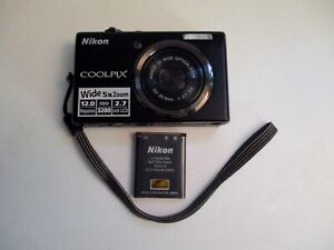 Nikon Coolpix S570 12.0 MP Wide 5X Zoom Camera - BLACK - Excellent Condition!
