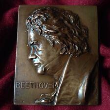 Antique Piano Composer Beethoven 1930 Franz Stiasny Bronze Medal Austria Artist