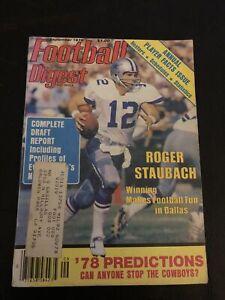 Football Digest September 1978 Roger Staubach Cowboys