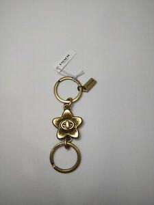 COACH Wildflower Turnlock Valet Keychain NWT F68389