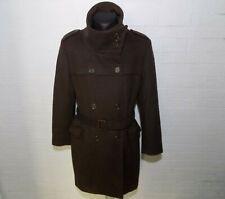 Ladies BARBOUR 4445 Wool Brown Coat Jacket Size UK16 EUR 42 US 12