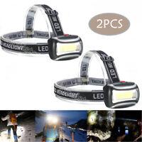 COB Headlampe Headlight Stirnlampe LED Scheinwerfer AAA Taschenlampe Kopflampe