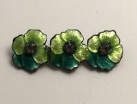 Vintage green  flower  Brooch Pin