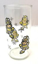 MISS PIGGY ICE SKATING GLASS JELLY JAR CUP MUPPET BABIES MUPPETS