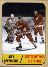 Custom made OPC  1967-68 Detroit red Wings alex Delvecchio hockey card red