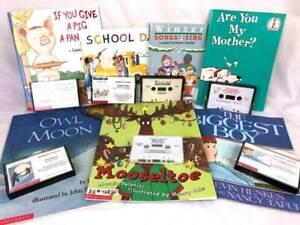 LOT 7 Children's Picture Books on Tape Cassettes Listening Library Center Teach