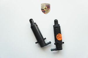 Porsche 970 Panamera Spritz Nozzle Headlight Washer Unit Black L=R 97062813300