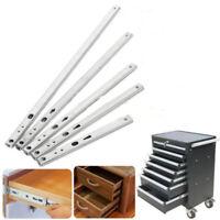 2xKitchen Cupboard Drawer Slides Furniture Guide Rail Full Extension Metal Pack