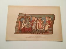 T21) Colored Naming of St John the Baptist Canterbury Cathedral c. 1892 Print