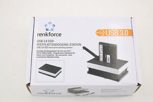 Renkforce RF-SSD-DOCK01 USB 3.2 Gen 1 (USB 3.0) SATA III 1-Port-Festplatten-Dock