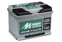MIDAC SIGILLUM Starterbatterie S2B Plus 12V 62AH (Low-DIN Version) EN (A):540