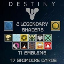 30 Destiny DLC CODES for CARDS, EMBLEMS, SHADERS - PS3 PS4 XBOX 360 XBOX ONE