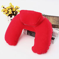 Soft Inflatable Travel Pillow Air Cushion Neck Rest U-Shaped Compact Flight US