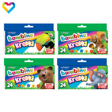 BAMBINO CRAYONS 24 COLOURS FOR KIDS AND TEENAGERS - KREDKI BAMBINO