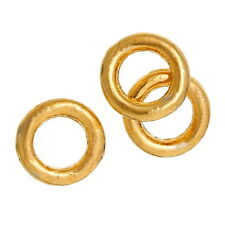 100pcs 4mm gold plated GP closed soldered jump rings jewellery making findings