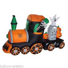 7ft tren fantasma Inflable embrujada Halloween Decoración Fiesta de jardín al aire libre