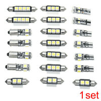 21pcs 12V White Interior LED Light Bulb Kit Universal For Car Auto 1.2-2.5W/Bulb