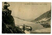 CPA 73 Savoie Beaufortain Lac de la Tempête animé