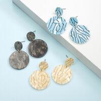 1Pair Boho Geometric Dangle Drop Stud Acrylic Resin Ear Stud Earrings Jewelry