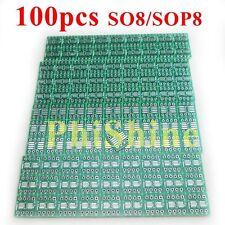 100pcs SOP to DIP Adapter SO8 SOP8 SOIC8 TSSOP8 to DIP8 Converter PCB Tinned FR4