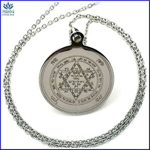 Sigillo di Salomone talismano amuleto chiave malocchio da uomo donna in acciaio