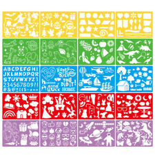 20pcs Drawing Stencils Set Plastic Art Drawing Templates for Kids Children