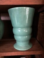 mid century modern Vase Jade Glaze Art Deco Arts And Crafts Craftsman Vintage