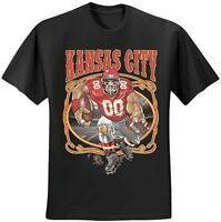 KC Kansas City Chiefs Super Bowl LV 2021 Champions  T-shirt Size S-2xl