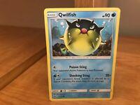 Common Reverse Holo Pokemon Card Qwilfish 21//73 Shining Legends Set NM