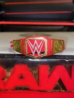 RED ELITE UNIVERSAL CHAMPIONSHIP TITLE BELT RAW mattel WWE figure accessory