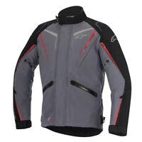 Alpinestars Yokohama Drystar Waterproof Motorcycle Motorbike Jacket Grey Black
