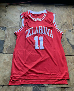 Trae Young Jersey #11 Oklahoma Sooners College Sewn Basketball Jersey Sz Large