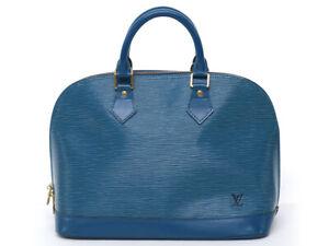LOUIS VUITTON Alma PM Epi Handbag Toledo Blue M52145