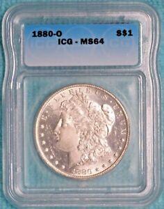 1880-O MS-64 Morgan Silver Dollar Uncirculated Unc