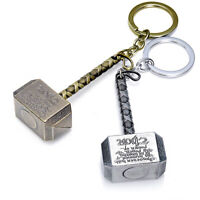 1pc Metal Auto Car The Avengers Thor Thor's Hammer Keyring Keychain 2 Colors WW