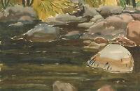James Frank Adams (1923-2008) - Set of Two Pen and Ink Drawings, Men Fishing
