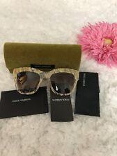 100% Authentic Dolce Gabbana Gold Lace D&G DG4231 2851/13 Lace Sunglasses New