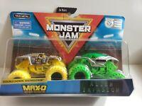 MAX-D x ALIEN INVASION 2019 Spin Master MONSTER Jam 1:64 Double Down - Case D