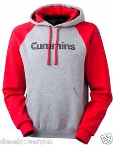 dodge cummins hoodie sweat shirt distressed hooded sweater truck red cummings XL