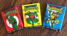 Teenage Mutant Ninja Turtles, Topps Wax Pack Trading Cards,1989 & 1990, 24 Packs