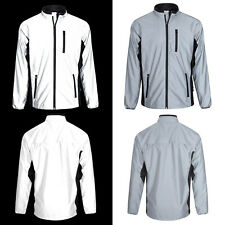 BTR Be Totally Reflective Silver High Vis Cycling & Running Jacket Men and Women